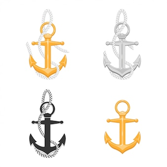 Anchor with rope collection