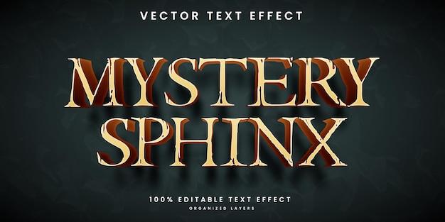 Ancien god style editable text effect Premium Vector