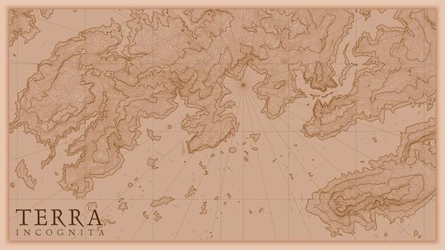 古代の抽象的な地球救済古い地図