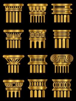 Ancient architecture column Premium Vector