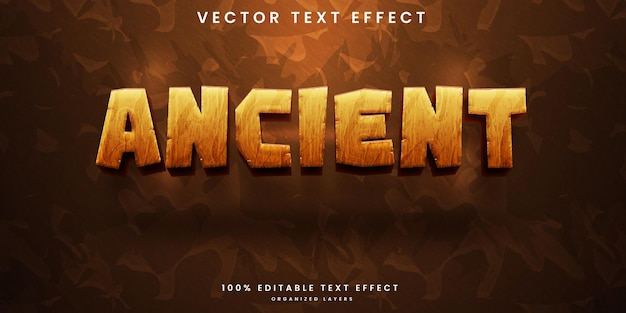 Ancient editable text effect