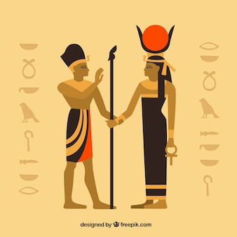 Ancient egypt composition with flat design