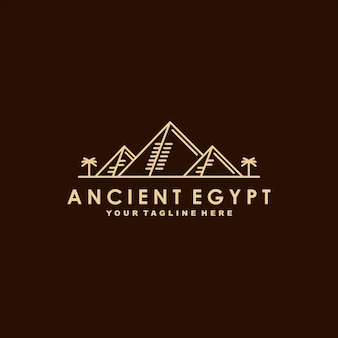 Ancient egypt premium logo  template