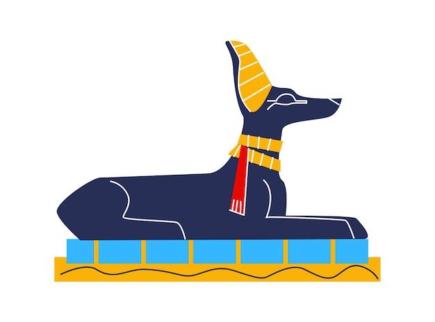 古代エジプトの壁の芸術または壁画要素の漫画