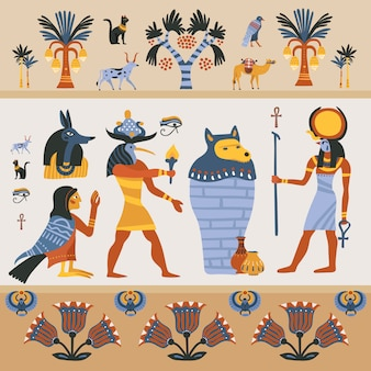 Ancient egyptian illustration