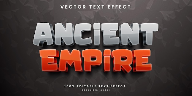 Ancient empire editable text effect