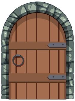 Древние ворота в средневековом стиле