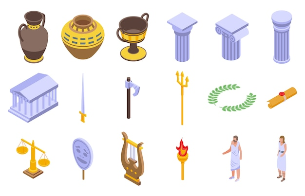 Набор иконок древней греции