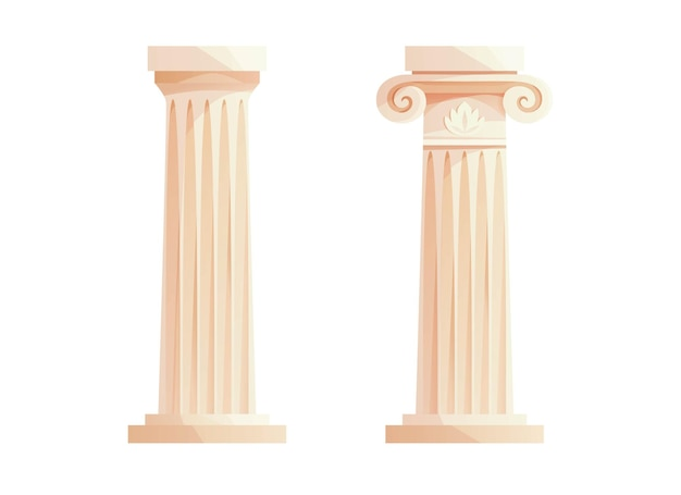 Ancient greek columns roman pillar building design elements and decoration