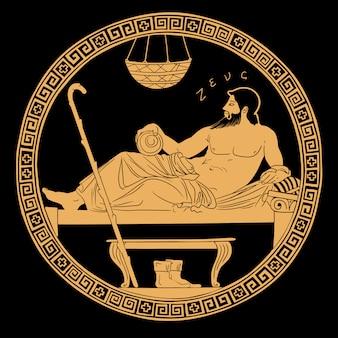 Ancient greek god zeus.