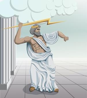 Ancient greek god zeus