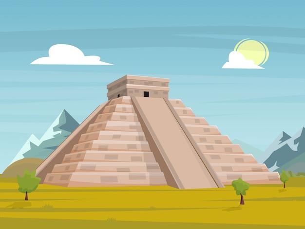 Ancient mexican pyramid