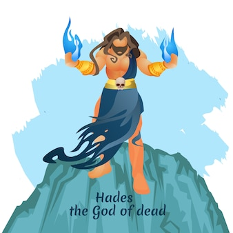 Ancient mythological greek underworld god aidis