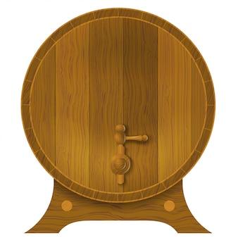 Ancient oak barrel