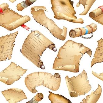古代の紙パターンベクトル図