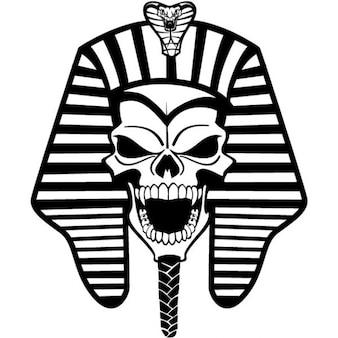 Ancient pharaoh skull vector illustration