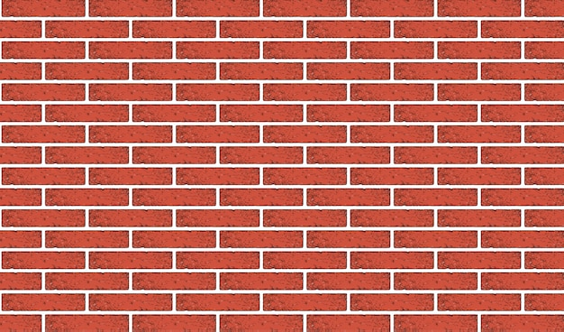 Ancient red brick wall texture