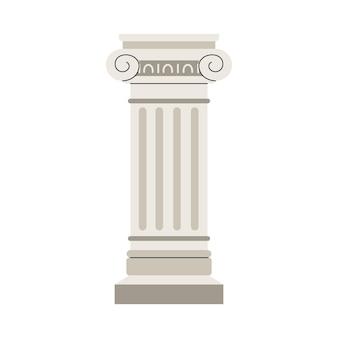 Ancient roman or greek column element flat vector illustration isolated
