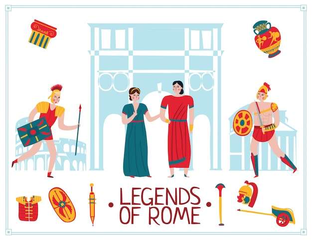 Ancient rome empire illustration