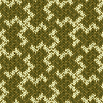 バリのswの古代の神聖なシンボル。シームレスなニットウールパターン