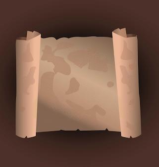벡터에서 만든 고대 두루마리 종이 고대 양피지