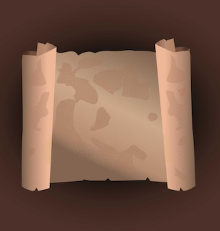 Ancient scroll paper ancient parchment made in vectors