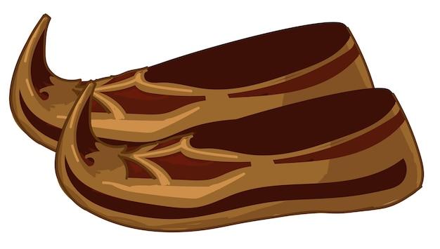 Дизайн старинной обуви, монгольская традиционная одежда