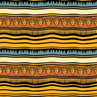 Ancient stripes tribal hand drawn pattern