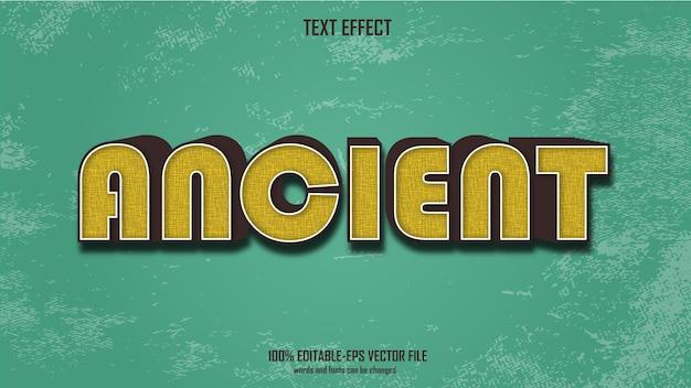 Древний текстовый эффект дизайн вектор