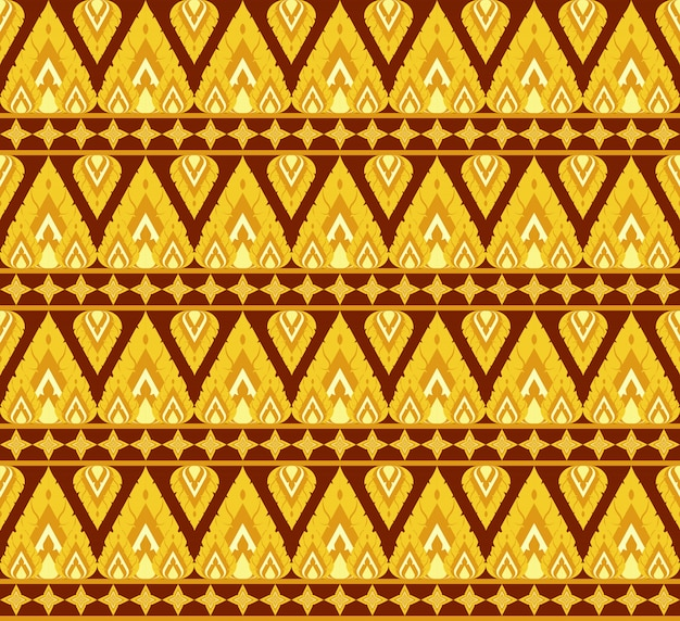 Ancient thai style ornamental seamless pattern