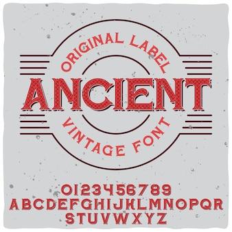 Antico carattere tipografico