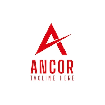 Ancor logo template with letter a symbol vector illustration