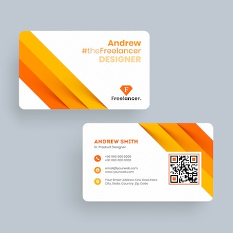 Andrew freelance designer business card template or visiting card design