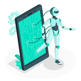 Android концепция иллюстрации