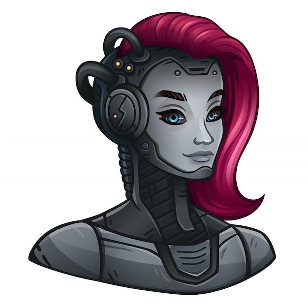 Иконка android girl для космического игрового автомата