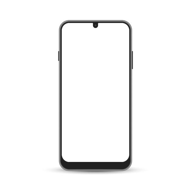 Плоский макет телефона android