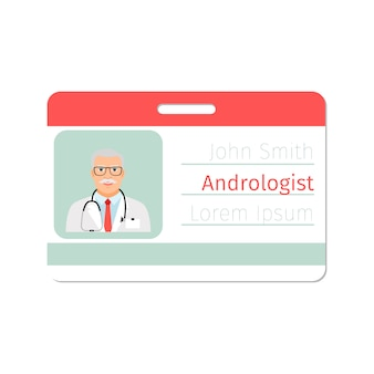 Andrologist medical specialist badge