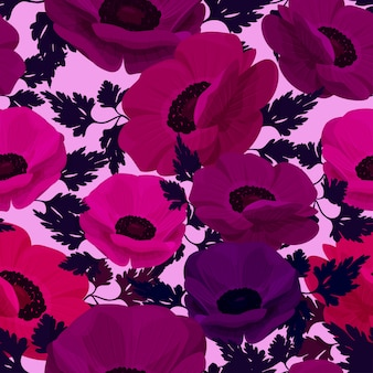 Anemone flower background.