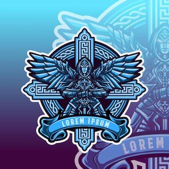 Angel army sword vector illustration