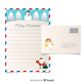 Angel christmas letter template