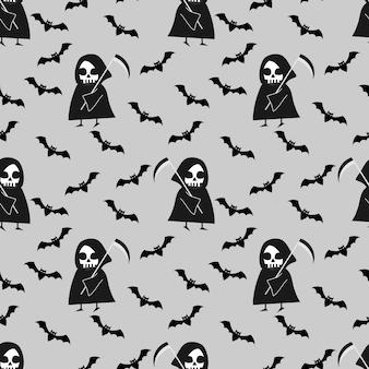 Angel of death, psychopomps, seamless pattern.