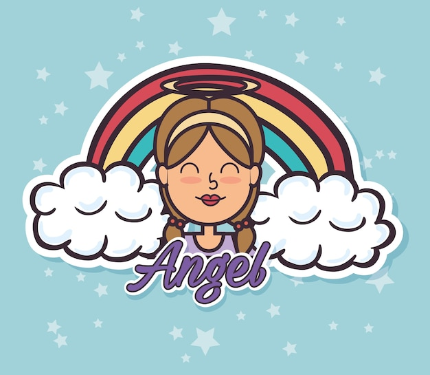 Angel fairy godmother поп-арт