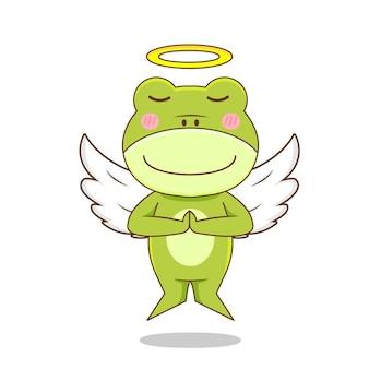 孤立した天使のカエルのキャラクター