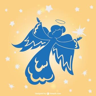 Ангел праздник вектор силуэт