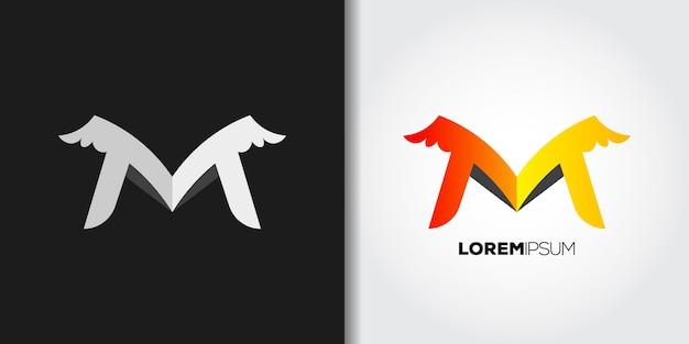 Angel letter m logo