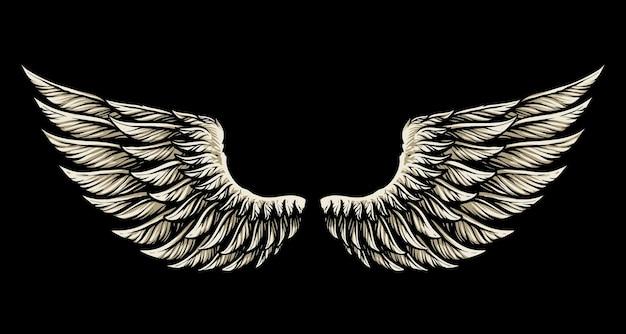 Angel wing illustration design