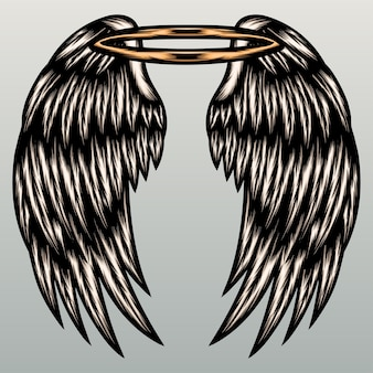천사 날개 그림입니다.