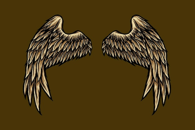Angel wing illustration