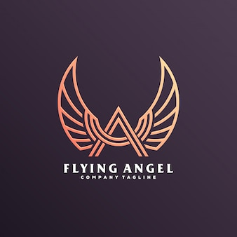 Angel wing logo