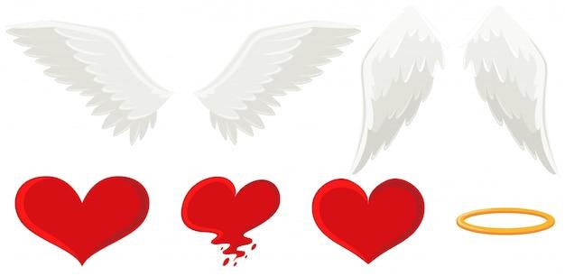 천사의 날개와 하트